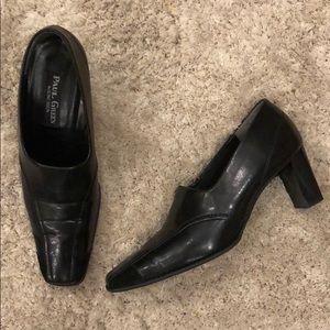 Paul Green Munchen Black Leather Shootie Heels
